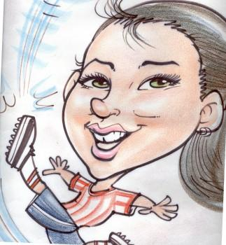soccer 323x350 - Caricature Artists